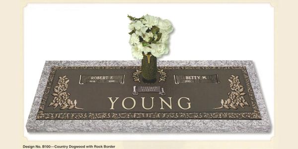 Bronze Companion Grave Markers Tegeler Monument Company