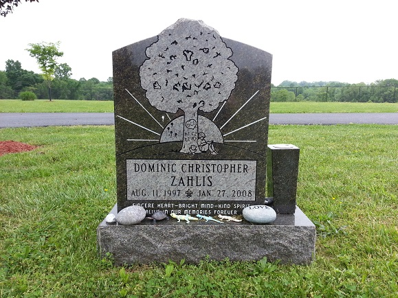 Custom Shape Granite Headstone