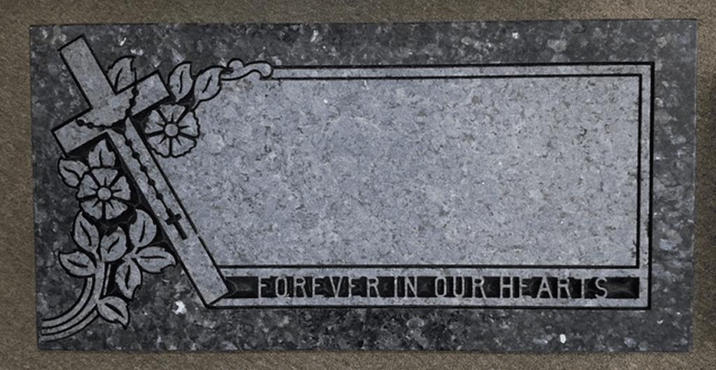 Religious Christian Grave Marker