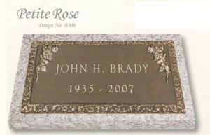 Petite Rose individual bronze marker without a vase